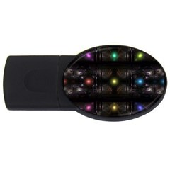Abstract Sphere Box Space Hyper USB Flash Drive Oval (2 GB)