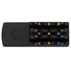 Abstract Sphere Box Space Hyper USB Flash Drive Rectangular (1 GB)