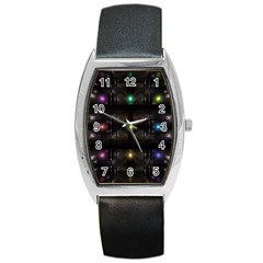 Abstract Sphere Box Space Hyper Barrel Style Metal Watch