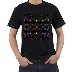 Abstract Sphere Box Space Hyper Men s T-Shirt (Black) (Two Sided)