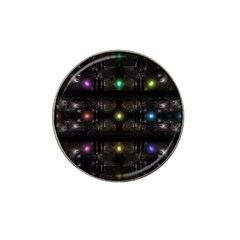 Abstract Sphere Box Space Hyper Hat Clip Ball Marker (4 pack)