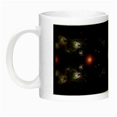 Abstract Sphere Box Space Hyper Night Luminous Mugs