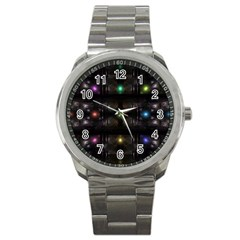 Abstract Sphere Box Space Hyper Sport Metal Watch