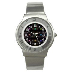 Abstract Sphere Box Space Hyper Stainless Steel Watch