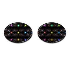 Abstract Sphere Box Space Hyper Cufflinks (Oval)