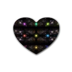 Abstract Sphere Box Space Hyper Heart Coaster (4 Pack)