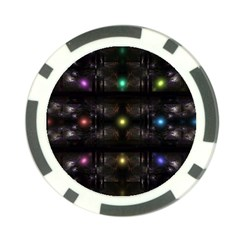 Abstract Sphere Box Space Hyper Poker Chip Card Guard