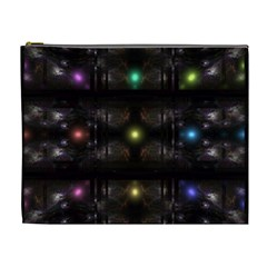 Abstract Sphere Box Space Hyper Cosmetic Bag (XL)