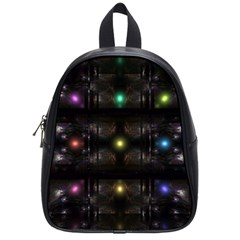 Abstract Sphere Box Space Hyper School Bags (Small)