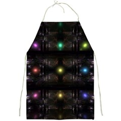 Abstract Sphere Box Space Hyper Full Print Aprons