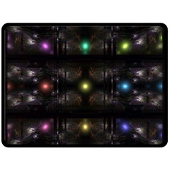 Abstract Sphere Box Space Hyper Fleece Blanket (Large)