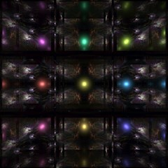 Abstract Sphere Box Space Hyper Magic Photo Cubes