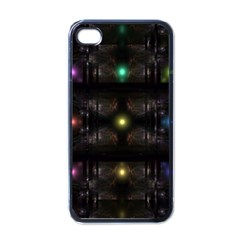 Abstract Sphere Box Space Hyper Apple iPhone 4 Case (Black)