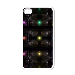 Abstract Sphere Box Space Hyper Apple iPhone 4 Case (White)