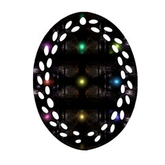 Abstract Sphere Box Space Hyper Ornament (Oval Filigree)