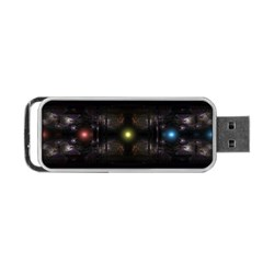Abstract Sphere Box Space Hyper Portable USB Flash (Two Sides)