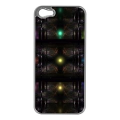 Abstract Sphere Box Space Hyper Apple iPhone 5 Case (Silver)