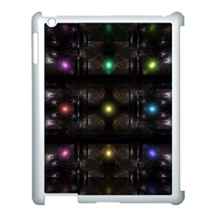 Abstract Sphere Box Space Hyper Apple iPad 3/4 Case (White)