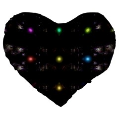 Abstract Sphere Box Space Hyper Large 19  Premium Heart Shape Cushions