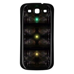 Abstract Sphere Box Space Hyper Samsung Galaxy S3 Back Case (Black)