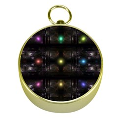 Abstract Sphere Box Space Hyper Gold Compasses