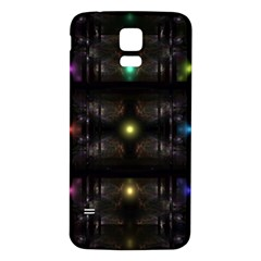 Abstract Sphere Box Space Hyper Samsung Galaxy S5 Back Case (White)