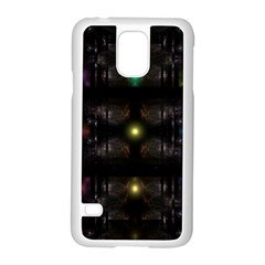 Abstract Sphere Box Space Hyper Samsung Galaxy S5 Case (White)