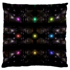 Abstract Sphere Box Space Hyper Large Flano Cushion Case (One Side)