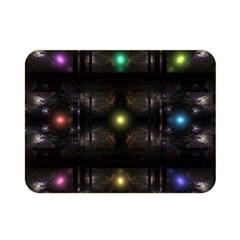 Abstract Sphere Box Space Hyper Double Sided Flano Blanket (Mini)