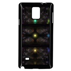 Abstract Sphere Box Space Hyper Samsung Galaxy Note 4 Case (Black)