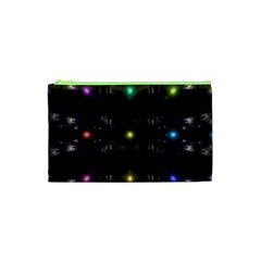 Abstract Sphere Box Space Hyper Cosmetic Bag (xs)