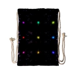 Abstract Sphere Box Space Hyper Drawstring Bag (small)