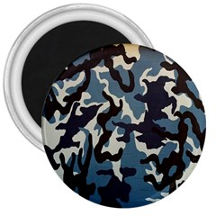 Blue Water Camouflage 3  Magnets