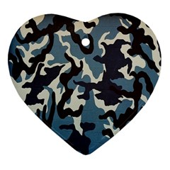 Blue Water Camouflage Ornament (heart)