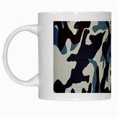 Blue Water Camouflage White Mugs