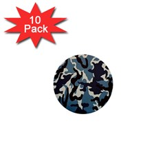 Blue Water Camouflage 1  Mini Buttons (10 pack)