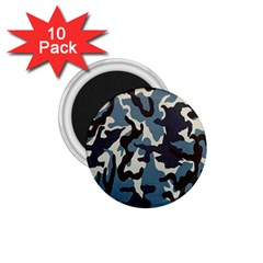 Blue Water Camouflage 1.75  Magnets (10 pack)