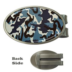Blue Water Camouflage Money Clips (Oval)