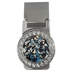 Blue Water Camouflage Money Clips (CZ)
