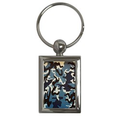Blue Water Camouflage Key Chains (Rectangle)