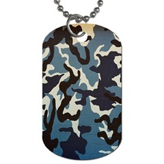 Blue Water Camouflage Dog Tag (Two Sides)