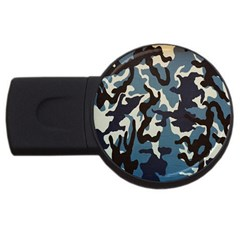 Blue Water Camouflage USB Flash Drive Round (2 GB)