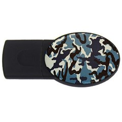 Blue Water Camouflage USB Flash Drive Oval (4 GB)