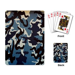 Blue Water Camouflage Playing Card