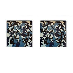 Blue Water Camouflage Cufflinks (square)