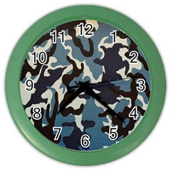 Blue Water Camouflage Color Wall Clocks