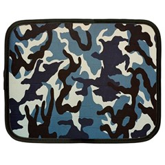 Blue Water Camouflage Netbook Case (Large)