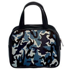 Blue Water Camouflage Classic Handbags (2 Sides)