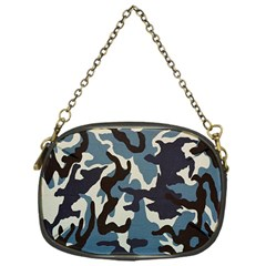 Blue Water Camouflage Chain Purses (One Side)