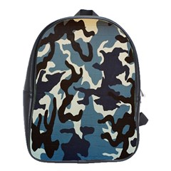 Blue Water Camouflage School Bags(Large)